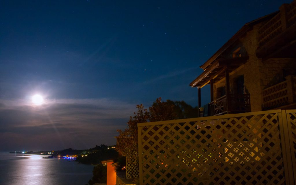 Zakynthos vista from our yard, shot late at night facing south east. How relevant in the face of the Greek Euro Crisis