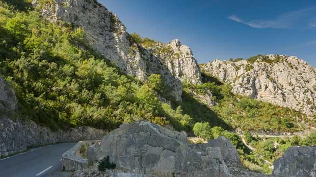 road near gorges du verdon