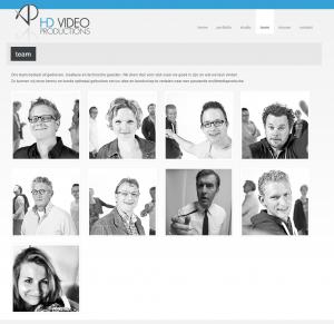 Weergave Site HD Videoproductions toendertijd